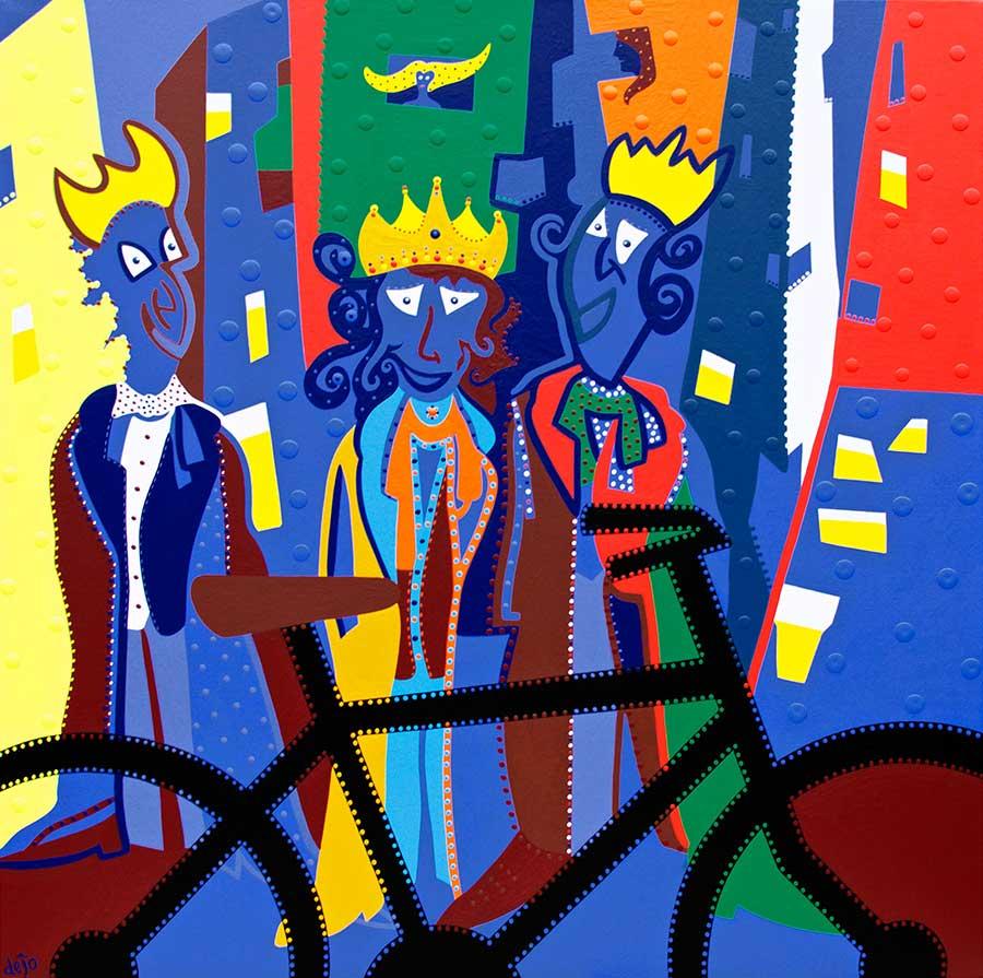 Painting - Ball King Shadowbike - Toyism. Buy art online.