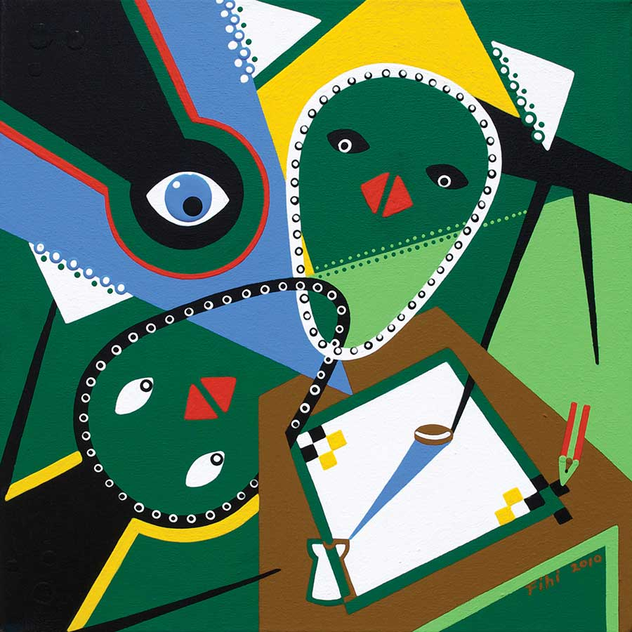 Painting - Meeting Opposites - Toyism. Buy art online.