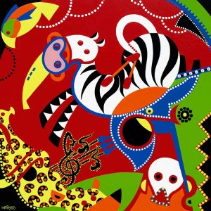 Painting - Musical Circus Painting - Toyism. Buy art online.