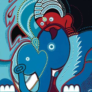 Painting - The Elephant - Toyism. Buy art online.