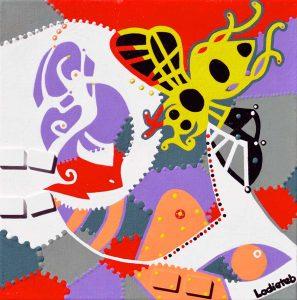 Painting - Jurate Honey Bee - Toyism. Buy art online.