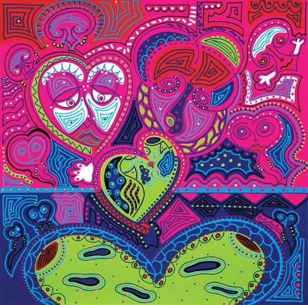 Painting - Love Hearts - Toyism. Buy art online.