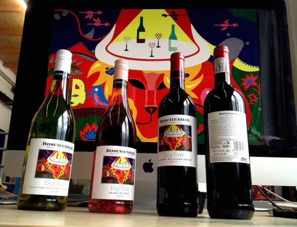 Boschendall Wines - Big Five - Toyism Art Movement