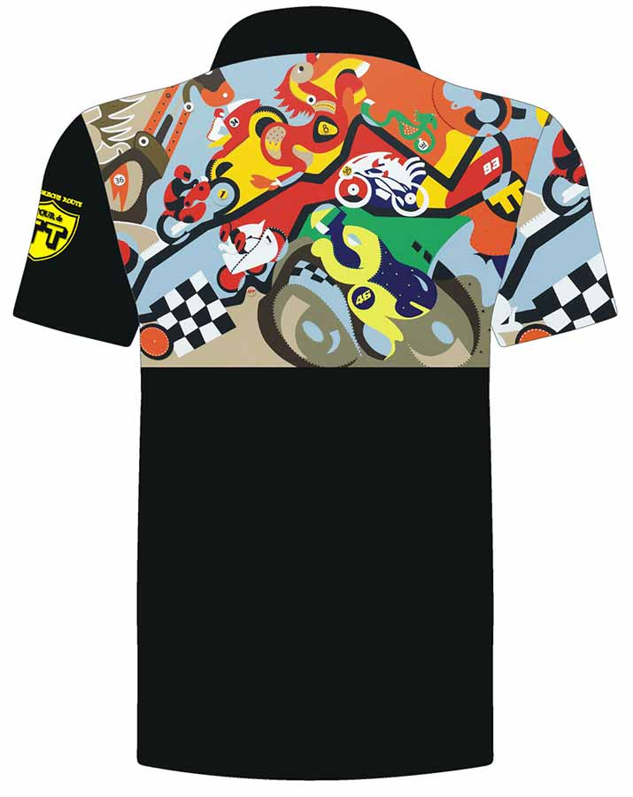 Merchandise - Horsepower Mania Polo Backside - Toyism Art Movement