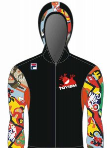 Merchandise - Skating Suit Front - Toyism Art Movement