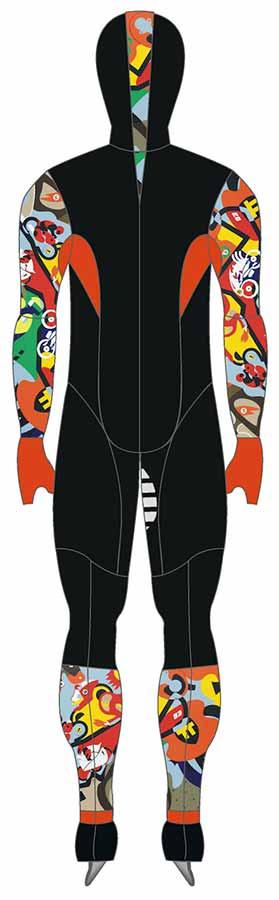 Merchandise - Skating Suit Backside - Toyism Art Movement