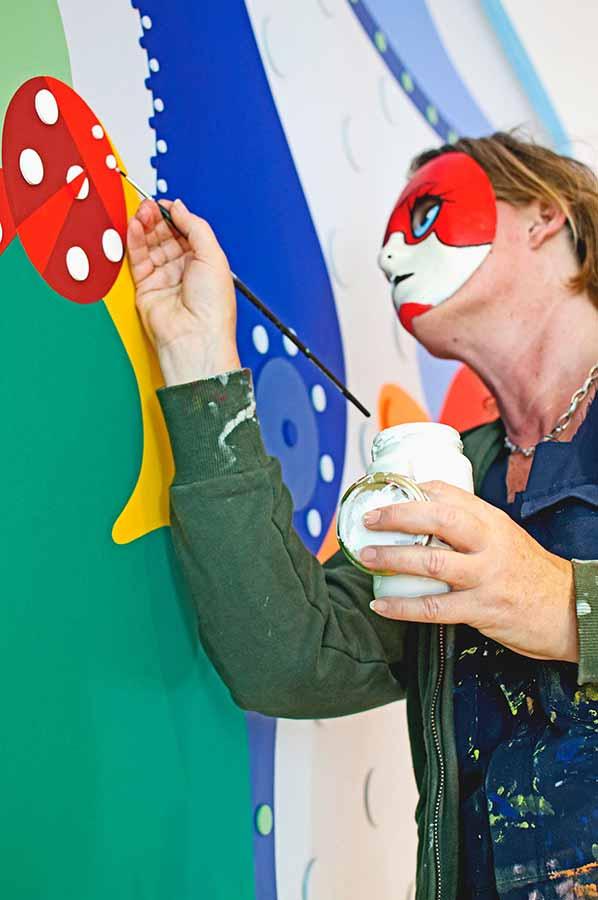 Flower Frogs - Mural Bliissem - Toyism Art Movement