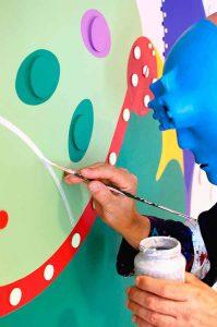 Flower Frogs - Mural Dejo - Toyism Art Movement