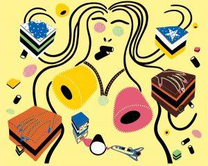 Silkscreen - Candy Doll Silkscreen - Toyism. Art for sale. Buy bestselling silkscreens online.