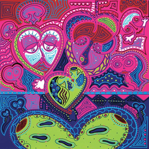 Silkscreen - Love Hearts Silkscreen - Toyism. Art for sale. Buy bestselling silkscreens online.