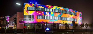 Hotel Dreams for Breakfast - At Night - Toyism Art Movement