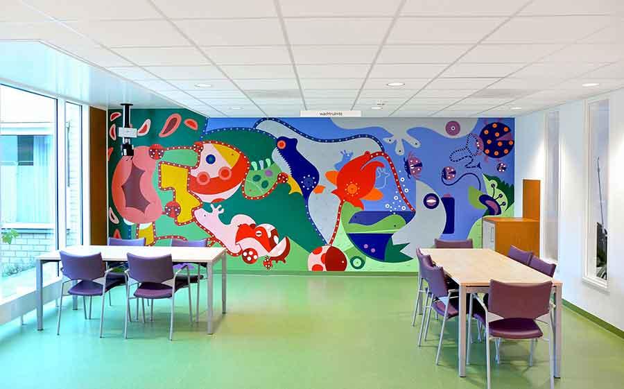 Flower Frogs - Mural Scheperziekenhuis - Toyism Art Movement