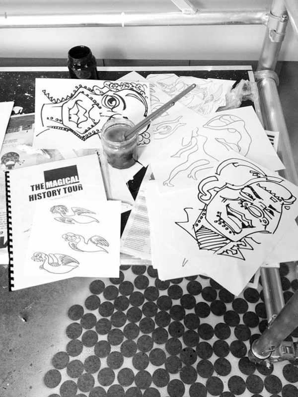 Sketches for The Magical History Tour - Toyism Art Movement
