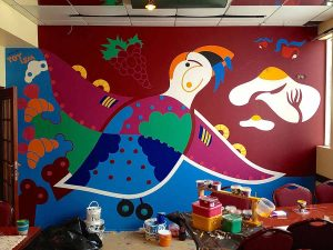 Captain of Puffin - Restaurant Mural Keflavik - Toyism Art Movement
