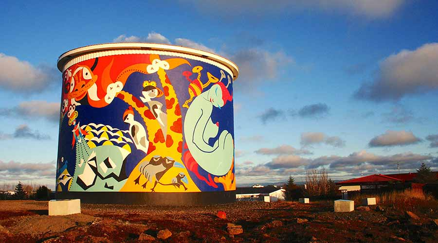 Uppspretta - Keflavik Tower - Toyism Art Movement