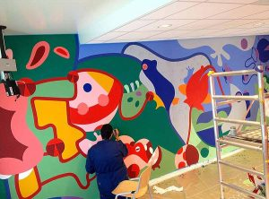 Flower Frogs - Mural Hribso - Toyism Art Movement