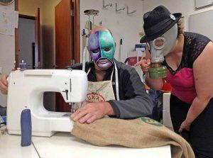 Uppspretta - Sewing Coffee Bags - Toyism Art Movement