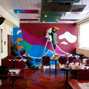 Captain of Puffin - Working in Restaurant - Toyism Art Movement