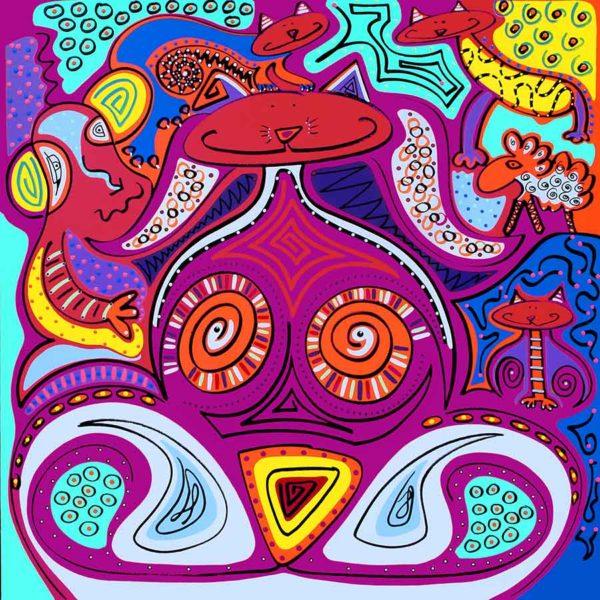 Fine Art Print - Cat Really Tiger - Toyism. Art for sale. Buy bestselling art prints online.