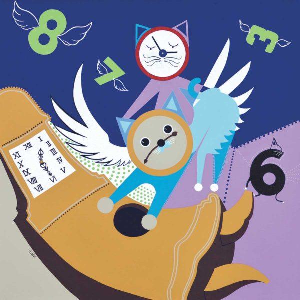 Clock Cats by Eiiz