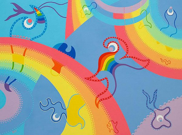 Paining - Rainbow Universe - Toyism. Buy art online.