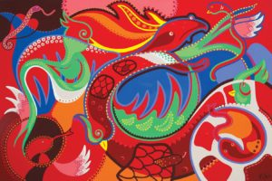 Painting - Quetzalcoatl - Toyism. Buy art online.