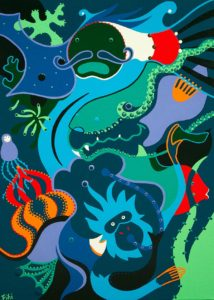 Painting - Travel Under Water - Toyism. Buy art online.