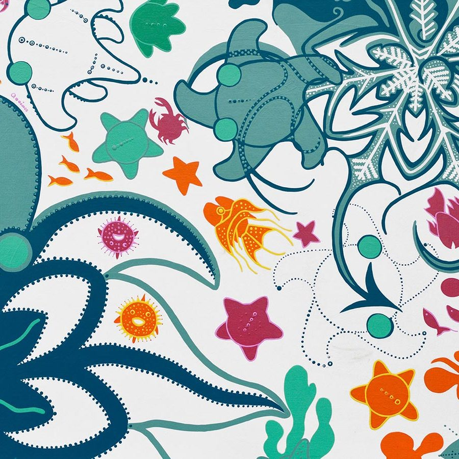 Painting - Hide Among Starfish - Toyism. Buy art online.