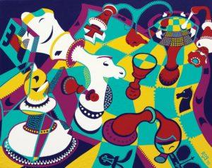 Painting - Languid Chessture - Toyism. Buy art online.