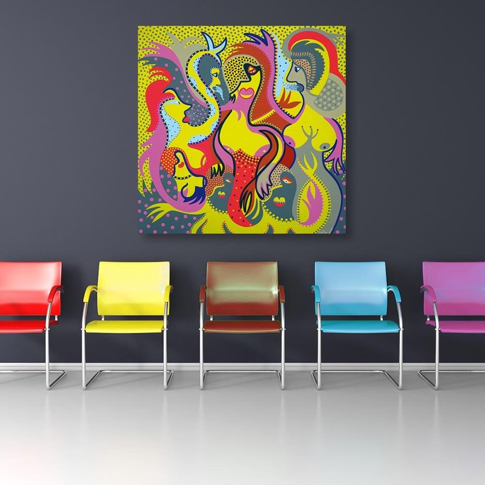 Toyism_Dejo_Painting_Damsels-of-Devastion_Livingroom