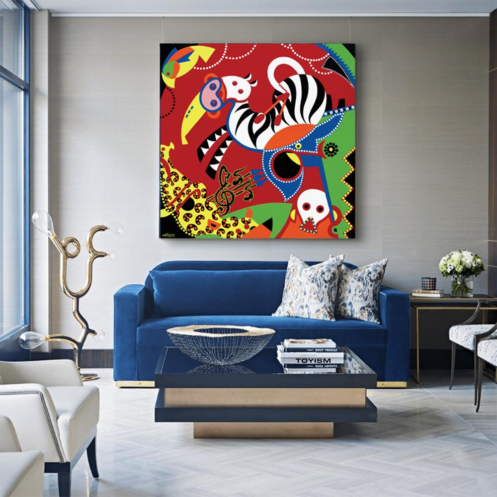 Toyism_Hribso_Painting_Musical-Circus_Livingroom