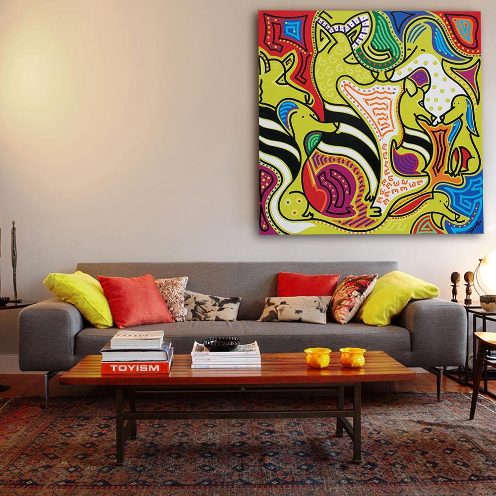 Toyism_Toescat_Painting_ZebraDogs_Livingroom