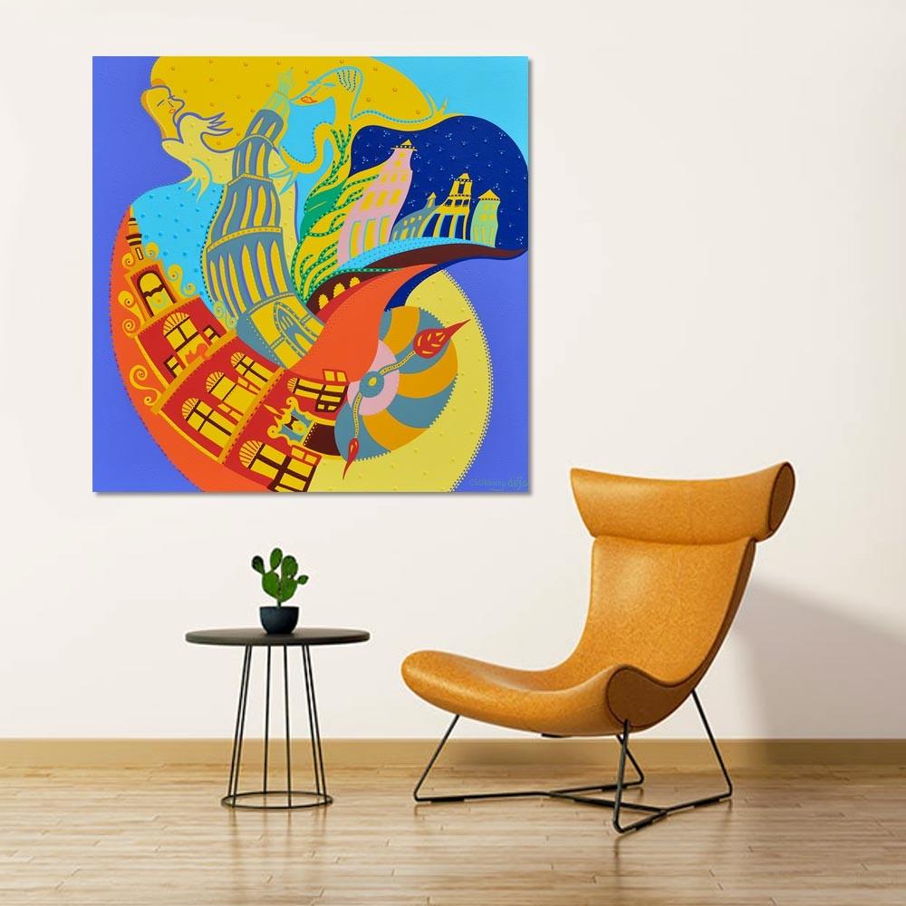 Toyism_Dejo_Painting_The-Silent-Wedding_Livingroom