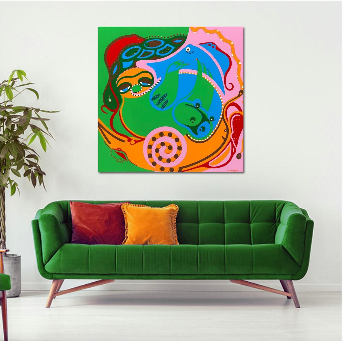 Wennigeb-Red-Livingroom-Rat-Race-Toyism-Art