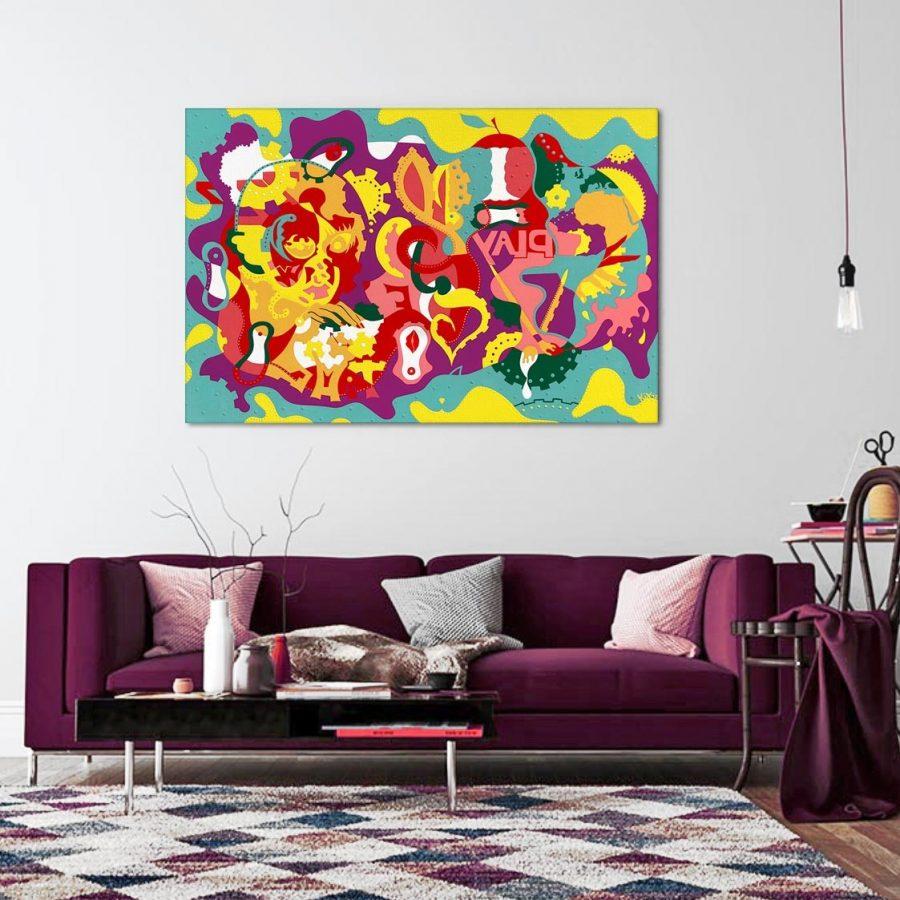 Livingroom-Kixoz-Life's-Intrinsic-Toyism-Art