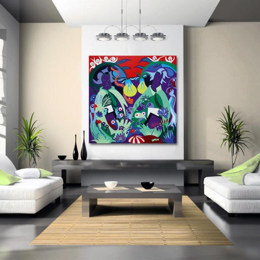 Toyism_Dejo-Guardians-of-the-Paper-Jungle_Livingroom