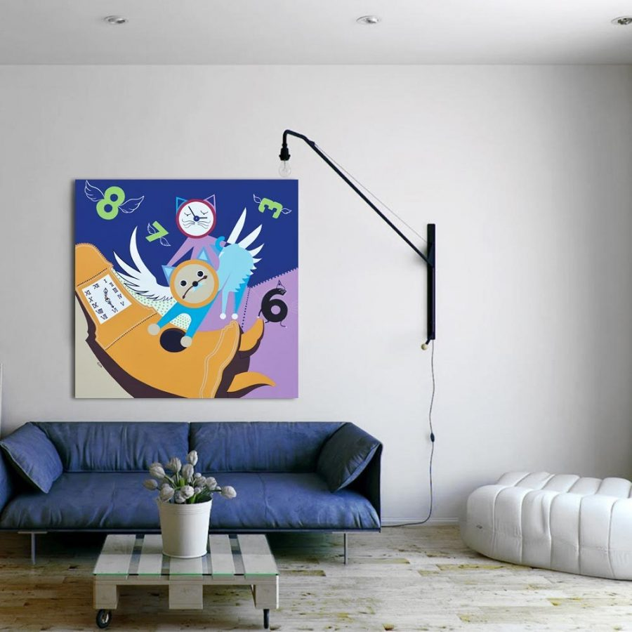 Toyism_Eiiz-Clock-Cats_Livingroom