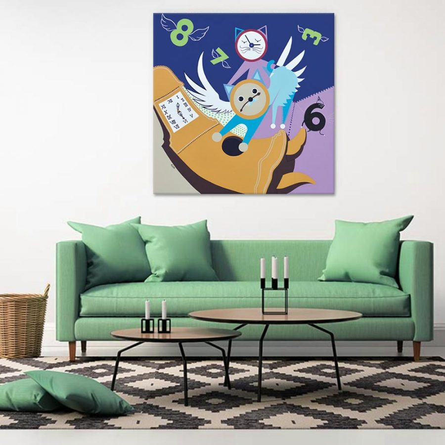 Toyism_Eiiz_Painting_ClockCats_Livingroom